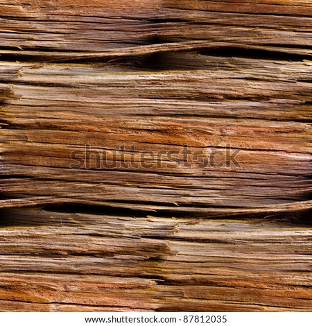 seamless texture of old wood with cracks pattern - stock photo