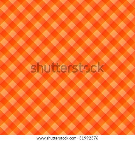 seamless texture of orange to red blocked tartan cloth - stock photo