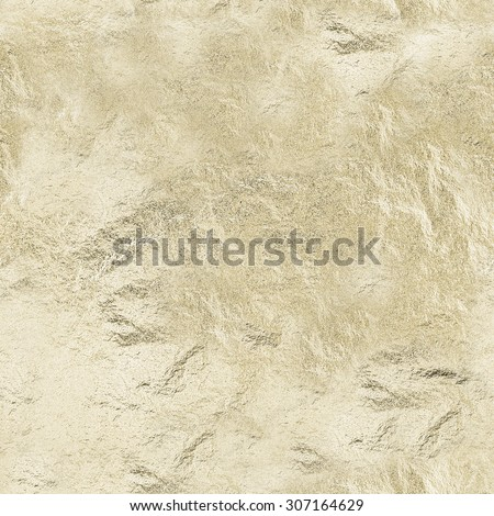 SEAMLESS texture of thin sheet of golden leaf background with shiny uneven surface