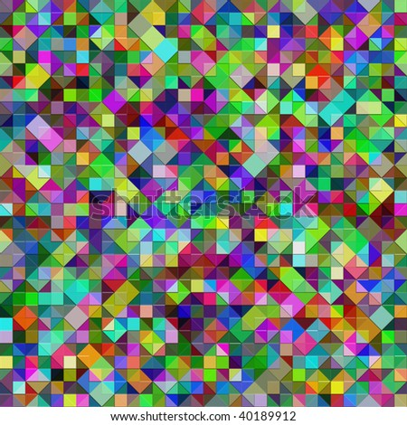 seamless texture of very bright little 3d blocks - stock photo