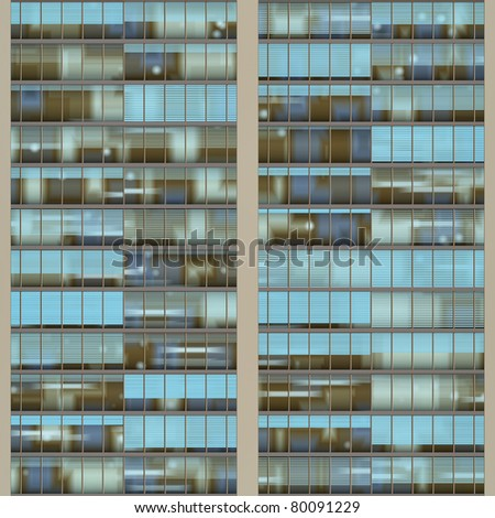 Seamless texture resembling windows of a high rise building - stock photo