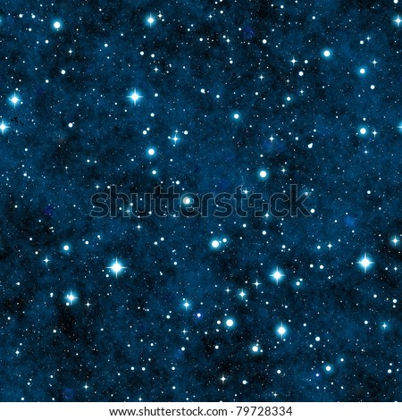 Seamless texture simulating the sky at night - stock photo