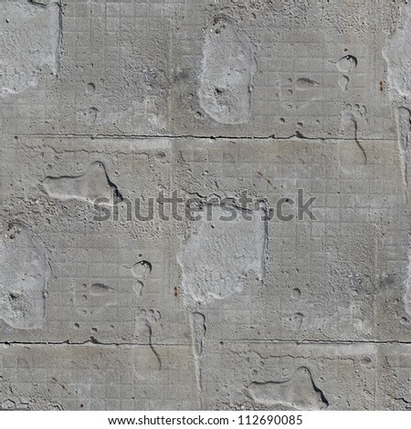 seamless texture square of old stone wall with a crack background - stock photo