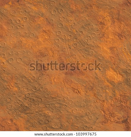 Seamless Texture surface Mars high-resolution - stock photo