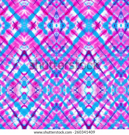 seamless tie dye patter. Diagonal design. Traditional textile technique - stock photo