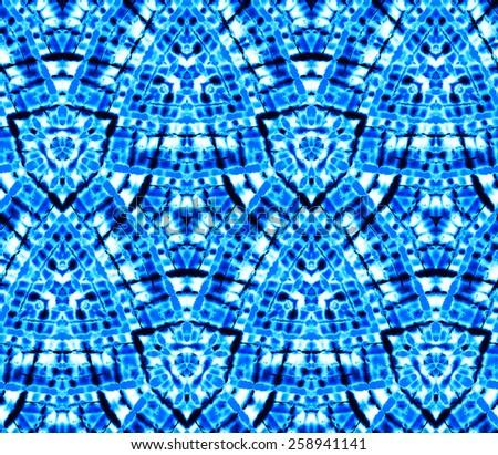 seamless tie dye pattern. kaleidoscope polygonal folded layout.  - stock photo