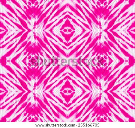 seamless tie & dye pattern with symmetric zig zag design.  - stock photo