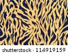 Seamless tiger retro texture - stock photo
