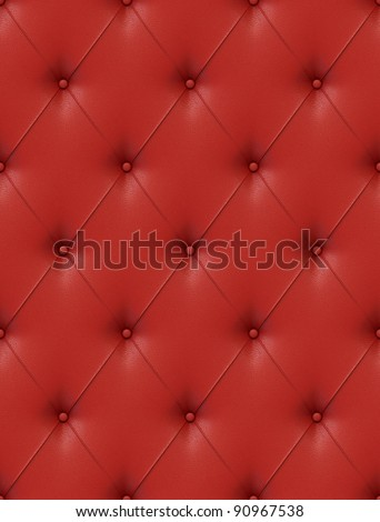 Seamless tile able texture of red leather upholstery with great detail, similar textures on my port - stock photo