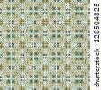 Seamless tile pattern of ancient ceramic tiles. - stock