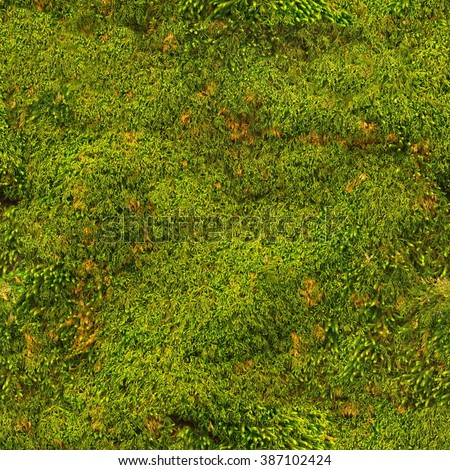 Seamless Tile Texture Forest Moss Pattern Green Mossy Stone