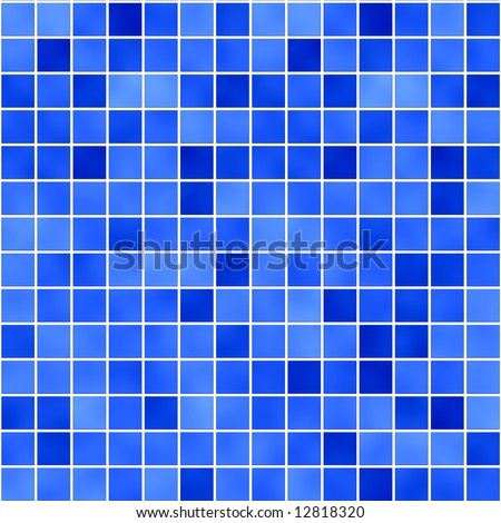seamless tileable background of bathroom or swimming pool tiles or wall - stock photo
