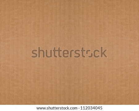 Seamless, tileable, brown, corrugated cardboard background. Recycled material. - stock photo