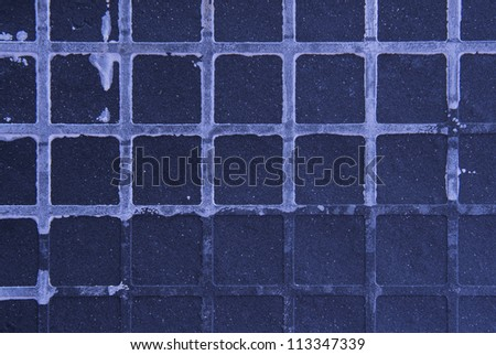 Seamless tileable grunge blue purple square marble stone background - stock photo