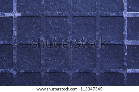 Seamless tileable grunge blue purple square marble stone background. - stock photo
