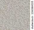 Seamless Tileable Texture of Surface Covered with Pebble Stones. - stock photo