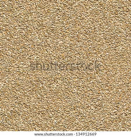 Seamless Tileable Texture of Surface Covered with Small Dark Brown Stones. - stock photo