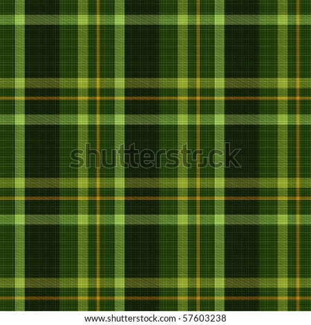 Seamless tiling green plaid textures - stock photo