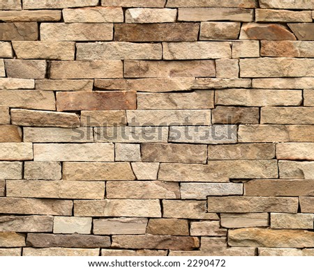 Seamless tiling stone wall. Part of a seamless tiling collection. - stock photo