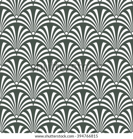 Seamless timber green luxury art deco peacock textile pattern