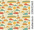 Seamless transport pattern  Illustration - stock vector