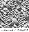 Seamless triangle pattern:raster version - stock photo