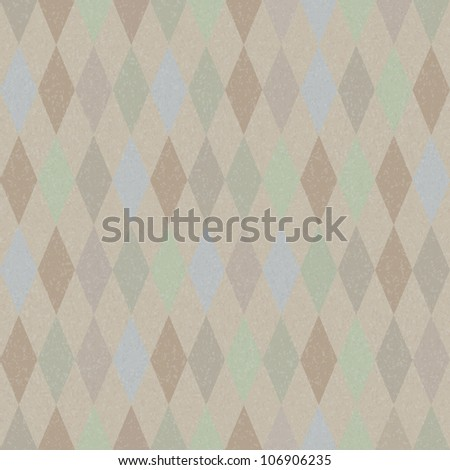 Seamless vector retro harlequin background in pastel colors - stock photo