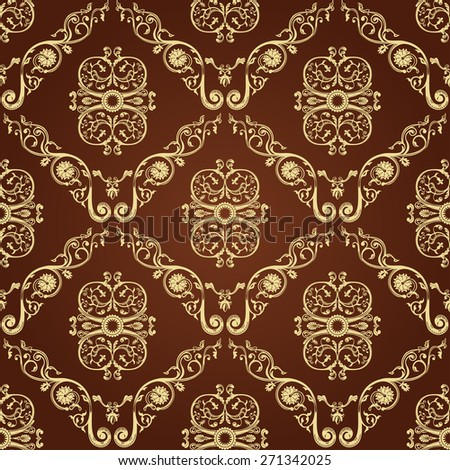 Seamless vintage decor wallpaper. Ornament background - stock photo