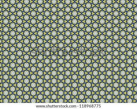 Seamless vintage delicate colored wallpaper. Geometric or floral pattern on paper texture in grunge style.