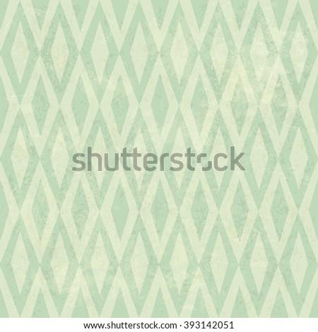 Seamless Vintage Rhombus Pattern. With Grunge Textured Background.. Raster version - stock photo