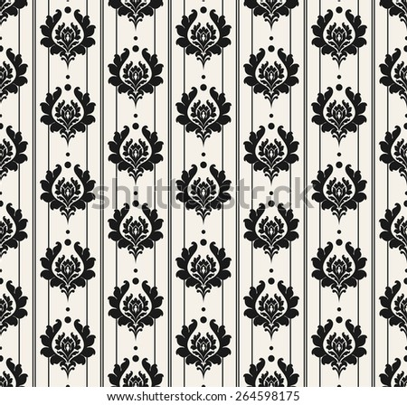 Seamless Vintage Wallpaper Pattern. Grey Color. Background for Your Design. Retro