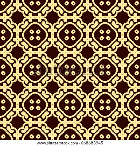 Seamless vintage wallpaper pattern. Ornamental decorative background. Template can be used for design of wallpaper, fabric, oilcloth, textile, wrapping paper and other design