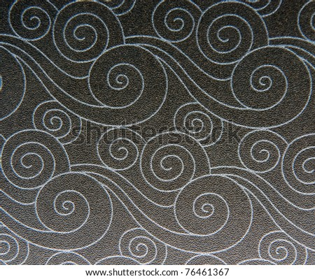 Seamless vintage wallpaper with floral ornament. - stock photo