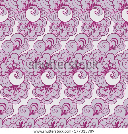 Seamless violet retro pattern