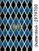 seamless wallpaper harlequin pattern - stock photo