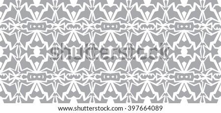 seamless wallpaper. Monochrome gray white abstract pattern - stock photo