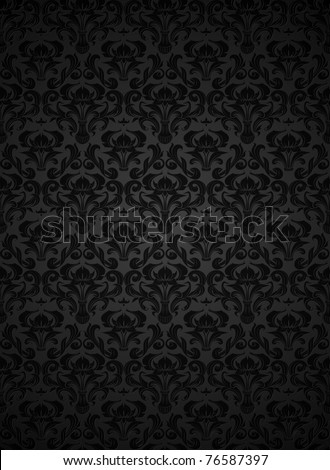 Seamless wallpaper pattern, bitmap copy - stock photo