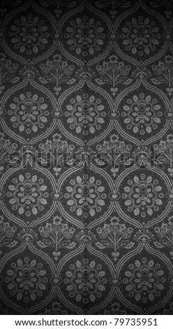 Seamless wallpaper pattern, black. See my portfolio for more - stock photo