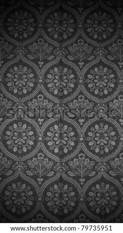 Seamless wallpaper pattern, black. See my portfolio for more - stock photo
