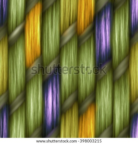 seamless weaving texture pattern wood  or hair - stock photo