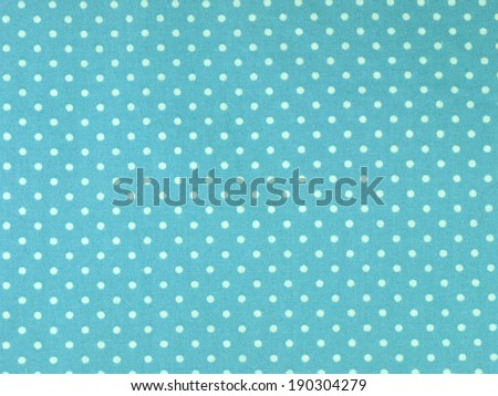 Seamless white and blue polka dots fabric background - stock photo