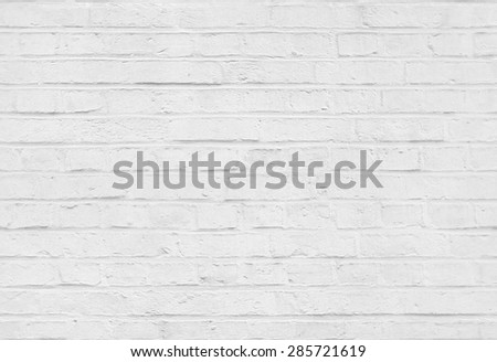 Seamless white brick wall pattern texture background - stock photo