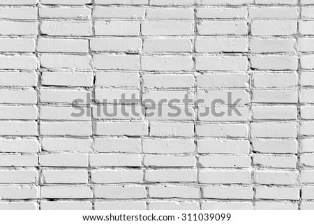 Seamless white painted brick wall - stock photo