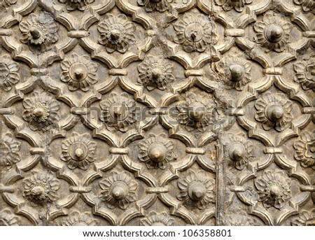 Seamless wood pattern ; Thailand contemporary style - stock photo