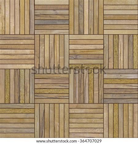 seamless wooden parquet texture - stock photo