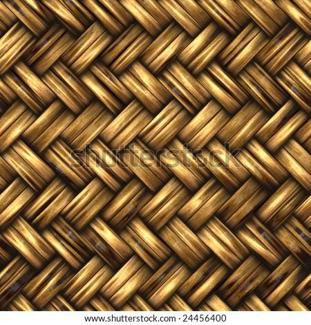 Seamless woven wicker background - stock photo