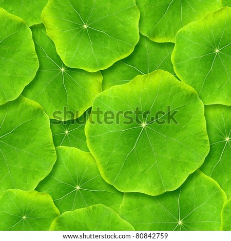 Seamlessly green leafs - texture background for continuous replicate.