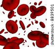 Seamlessly repeatable blood cells illustration - stock photo