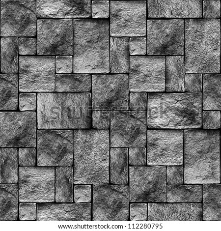 Seamlessly stony wall background - texture pattern for continuous replicate. See more seamless backgrounds in my portfolio. - stock photo