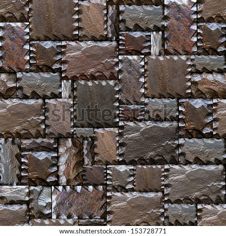 Seamlessly stony wall pattern.  - stock photo